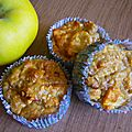 Muffins rustiques pomme cannelle