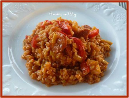 petit épeautre tomaté au chorizo et poivron3