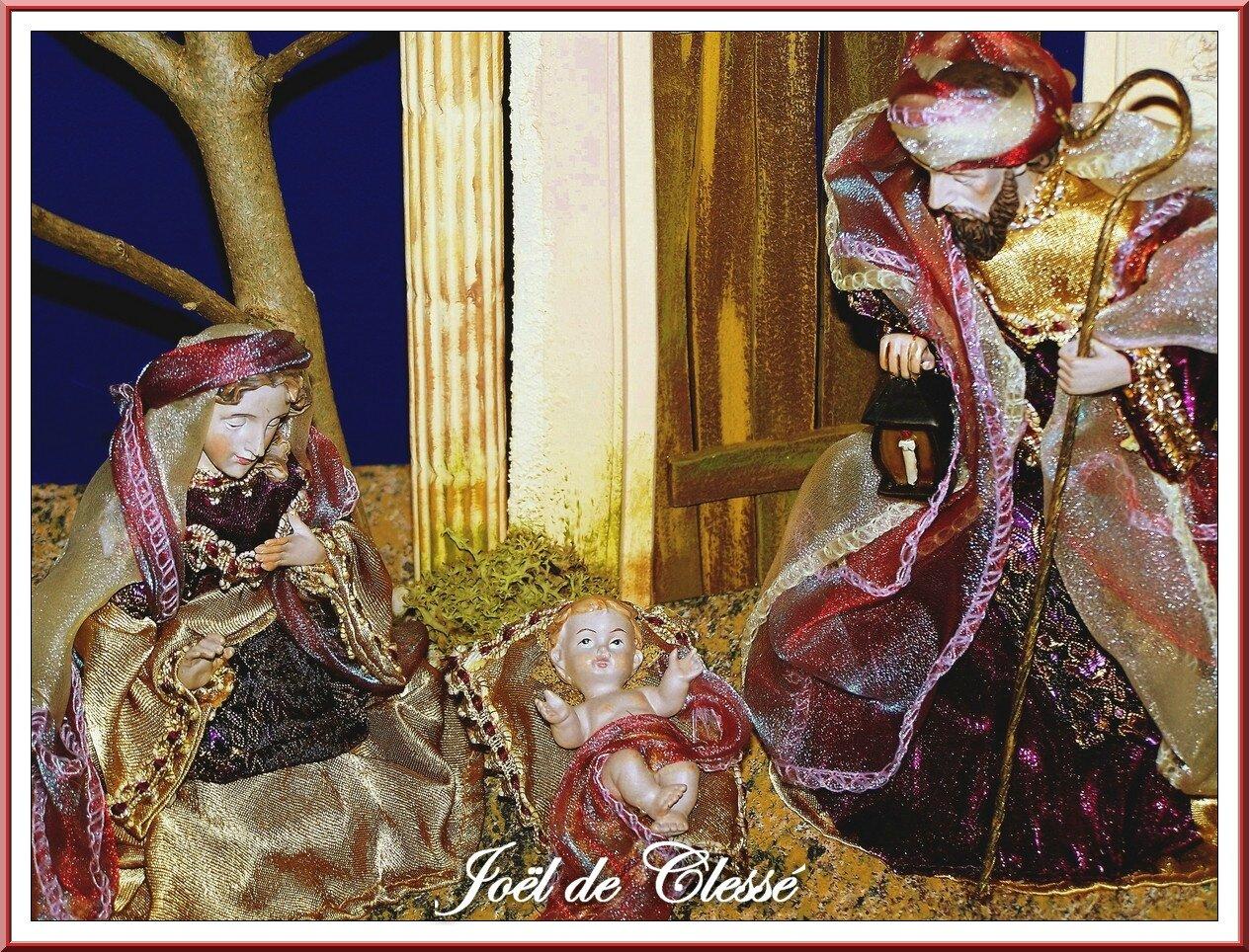 Crèche (Napolitaine)Nativité ruines détail 35x28x22cms 24-11-2009