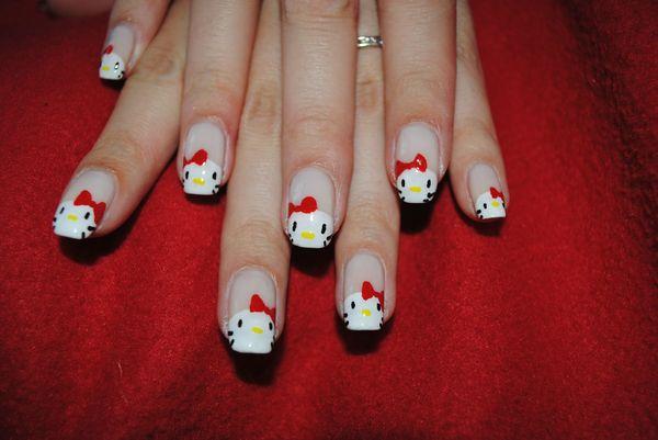 nail art hello kitty (4)