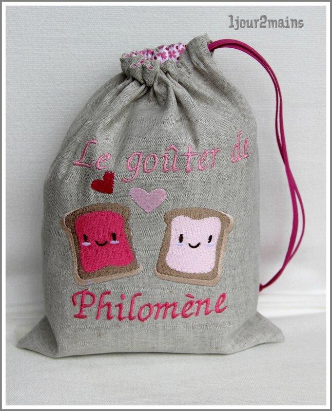 sac gouter tartines philomène