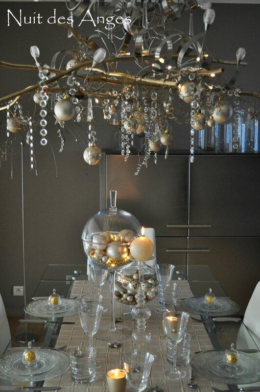 Nuit des anges décoratrice décoration de table dorée 003