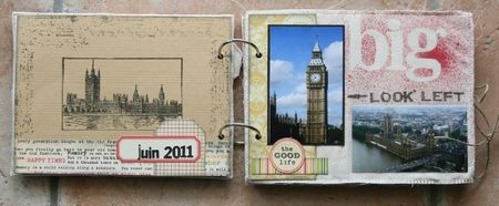 mini album souvenirs de Londres 1