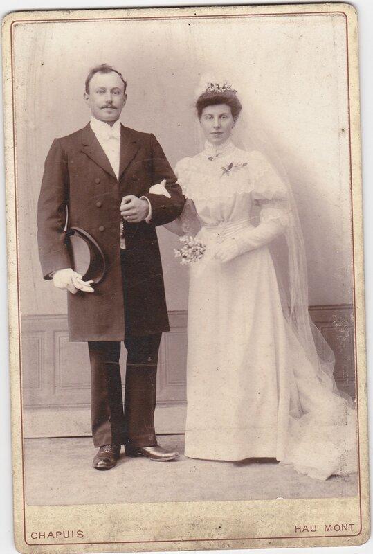 Mariage Usmérie et Désiré en 1906