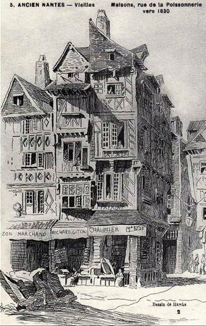 Ancien Nantes - Rue de la Poissonnerie 2