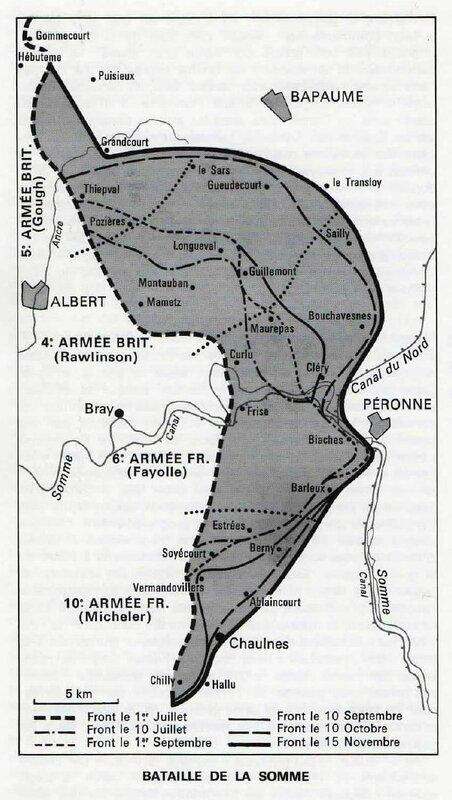 Carte bat de la Somme