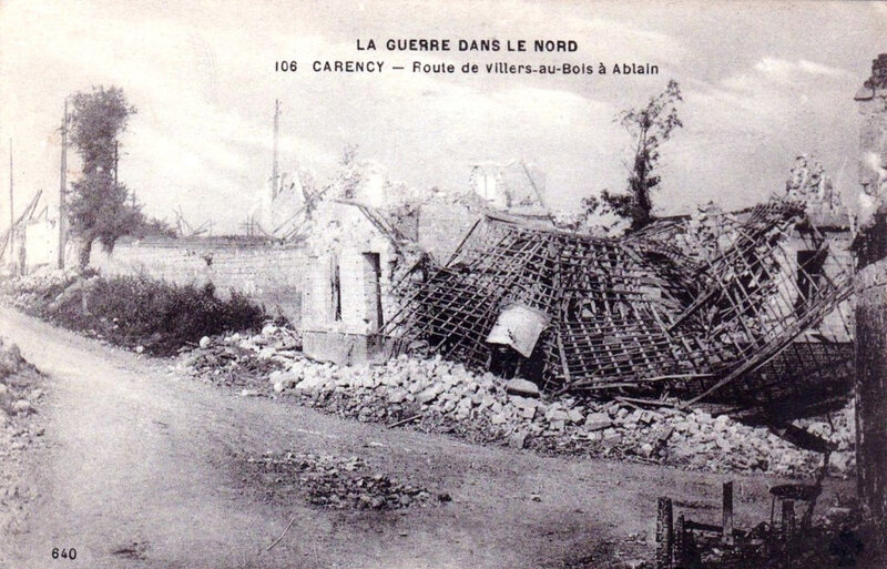 Carency, 1914