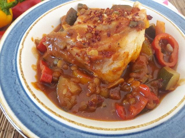 wok cabillaud-légumes-lentilles (2)