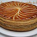 Galette des rois crème d'amandes et pépites de chocolat...et pâte feuilletée inversée!!!
