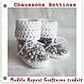 Chaussons bottines crochet tuto