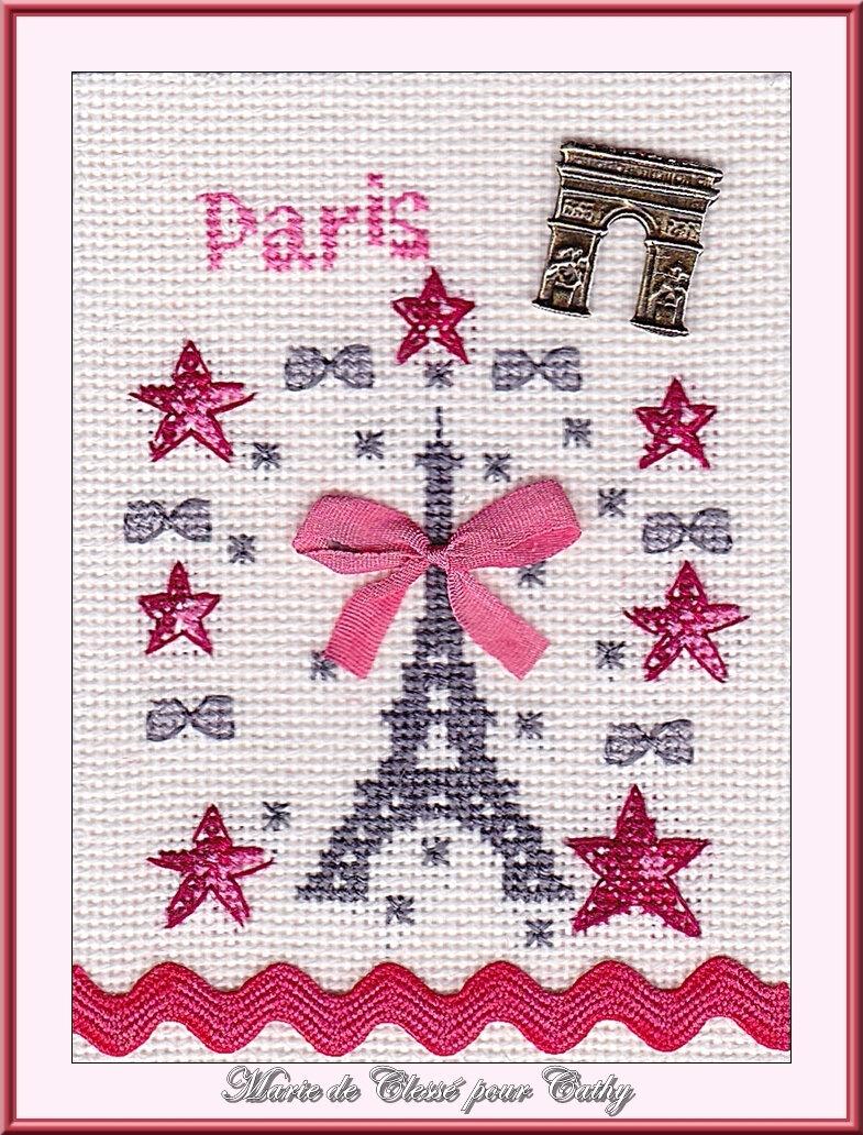 Échange ATC (Juin) Chez Cathy (Paris) Marie de Clessé pour Cathy 1