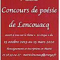 Affiche du concours de poésie