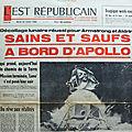 La mission apollo xi dans l'est républicain du mardi 22 juillet 1969