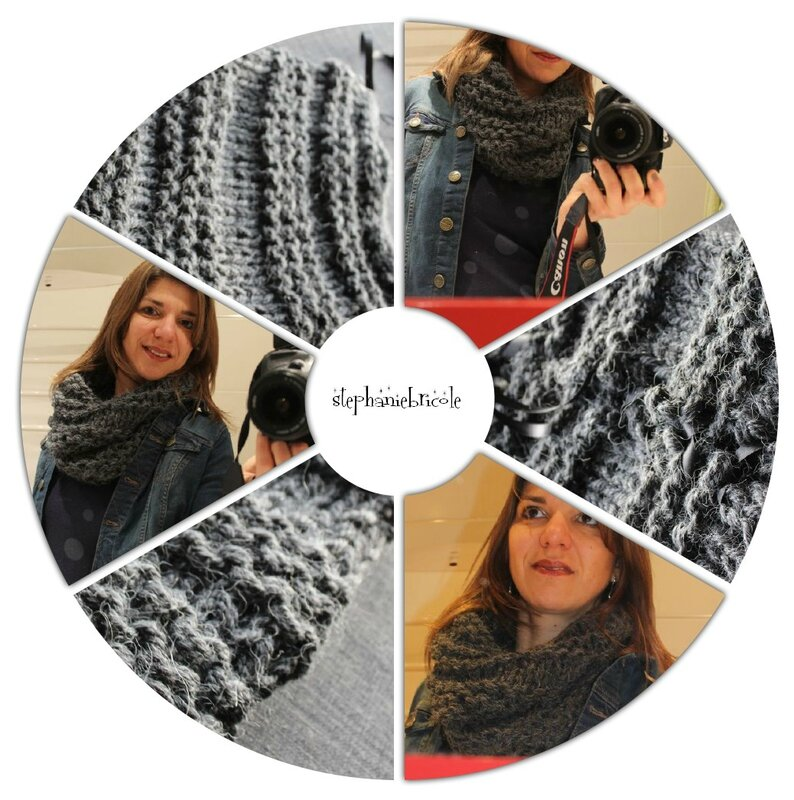 compo snood facile à tricoter