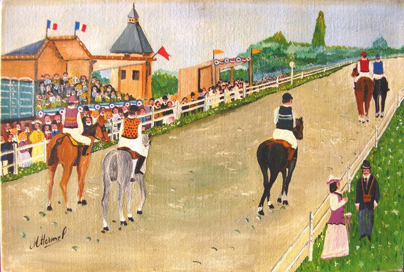 HERMEL Le dimanche aux courses 1965 22 x 33
