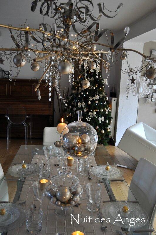 Nuit des anges décoratrice décoration de table dorée 004