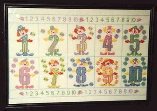 Chiffres rigolos - 2000 - Photo de Point de croix - Clo's bricolages