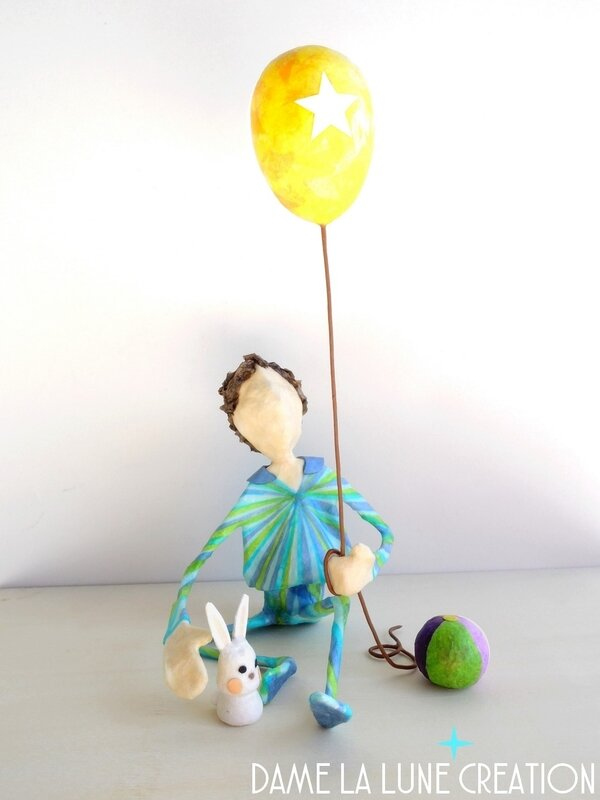 Figurine_petit prince_garçon_etoile_dame la lune creation