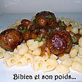 Boulettes de bœuf faciles et rapides et leur sauce champignons