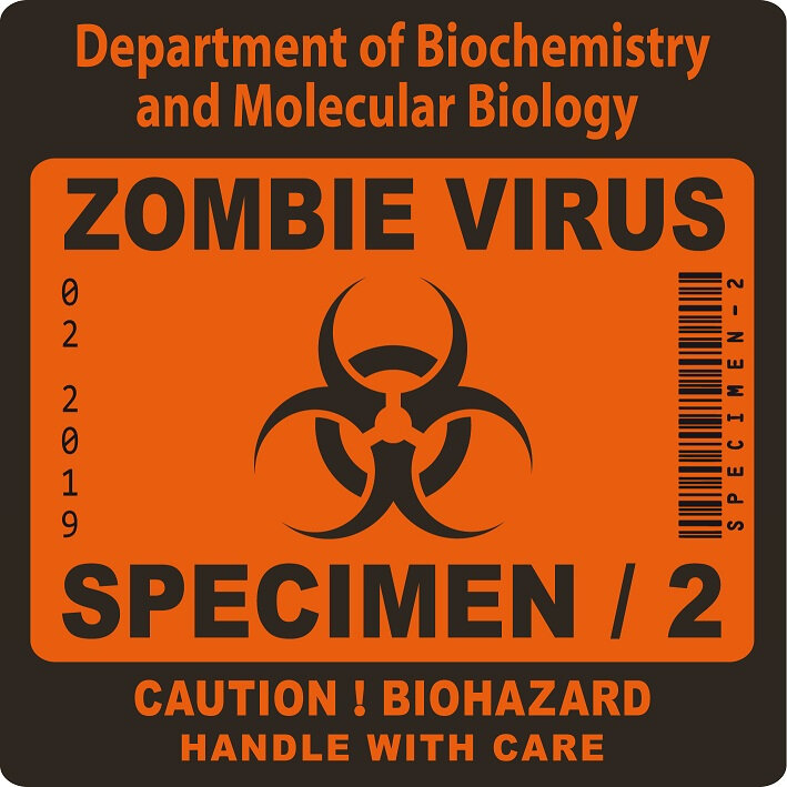 label biohazard zombie radioactive virus 2