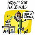 Nicolas sarkozy écrit aux français