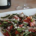 Haricots verts à la sauce tomate & parmesan