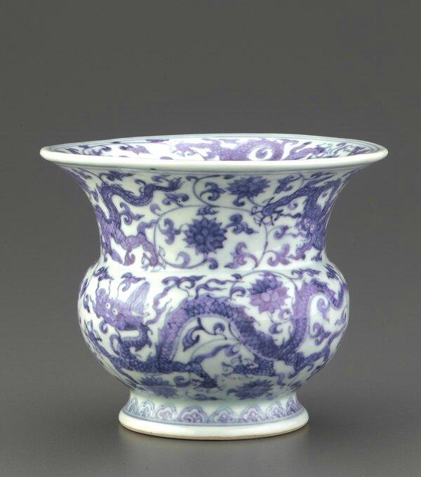 Slops jar (zhadou), 1506-1521, Ming dynasty, Zhengde reign