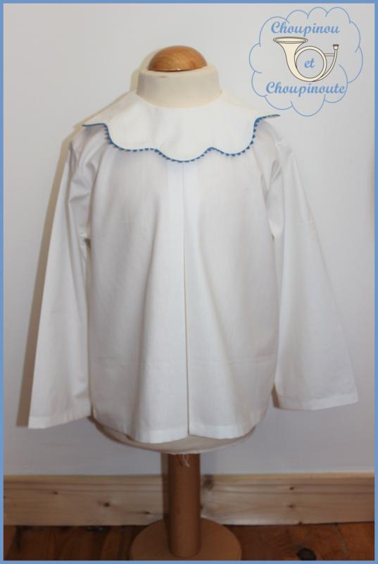 blouse hiver col pétales 2