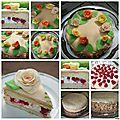Gâteau (d'anniversaire) à la couverture de massepain