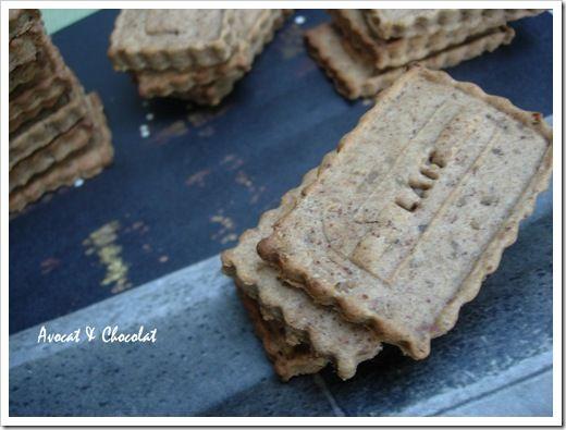 biscuit à la confiture de lait amandes-noisettes