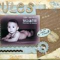 Un canvas... encore pour un bébé !