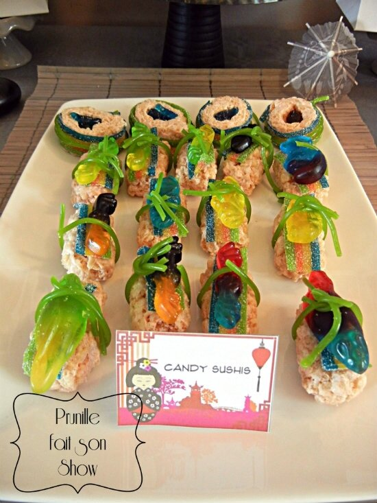 sweet table manga et japon prunillefee candy sushi