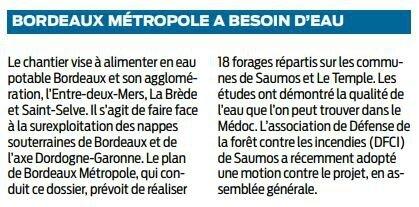 2017 10 31 SO Bordeaux métropole a besoin d'eau