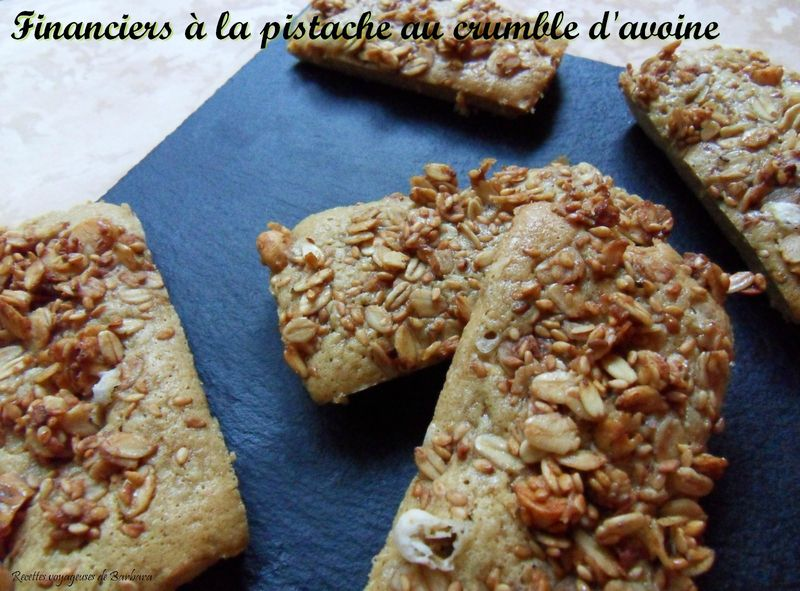 financiers à la pistache au crumble d'avoine2