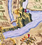 L château de Poitiers, en forme de triangle