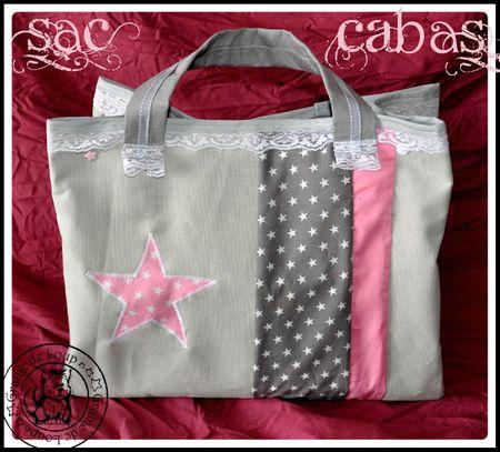 sac cabas1 rose&gris commande