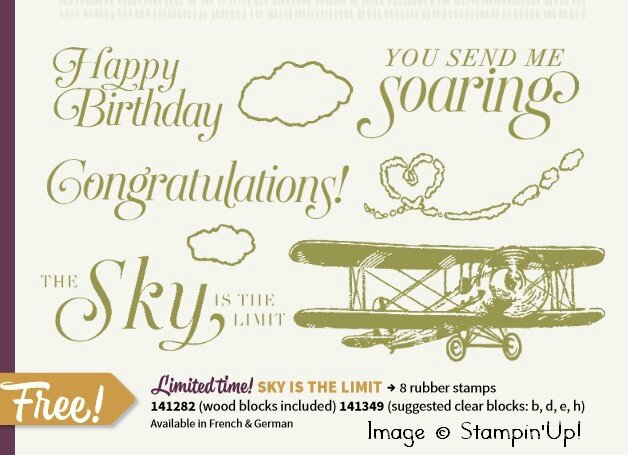 Stampinup free Sky is the limit