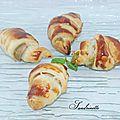 Croissants au pistou et jambon