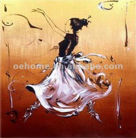 hand_painted_beautiful_happy_african_dancing_women_oil_painting_high_quality_artworks_original_painting_modern_painting