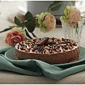 Gâteau royal chocolat couche croustillante au praliné !!!! une tuerie!!!
