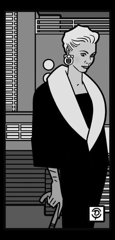 DELIUS_Dessinateur_Portrait_de_femme_monochrome_nocturne_Maison_Berteaux_Bruxelles_1936_Louis_Herman_de_Koninck