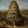 Flemish school, 17th century, the tower of babel