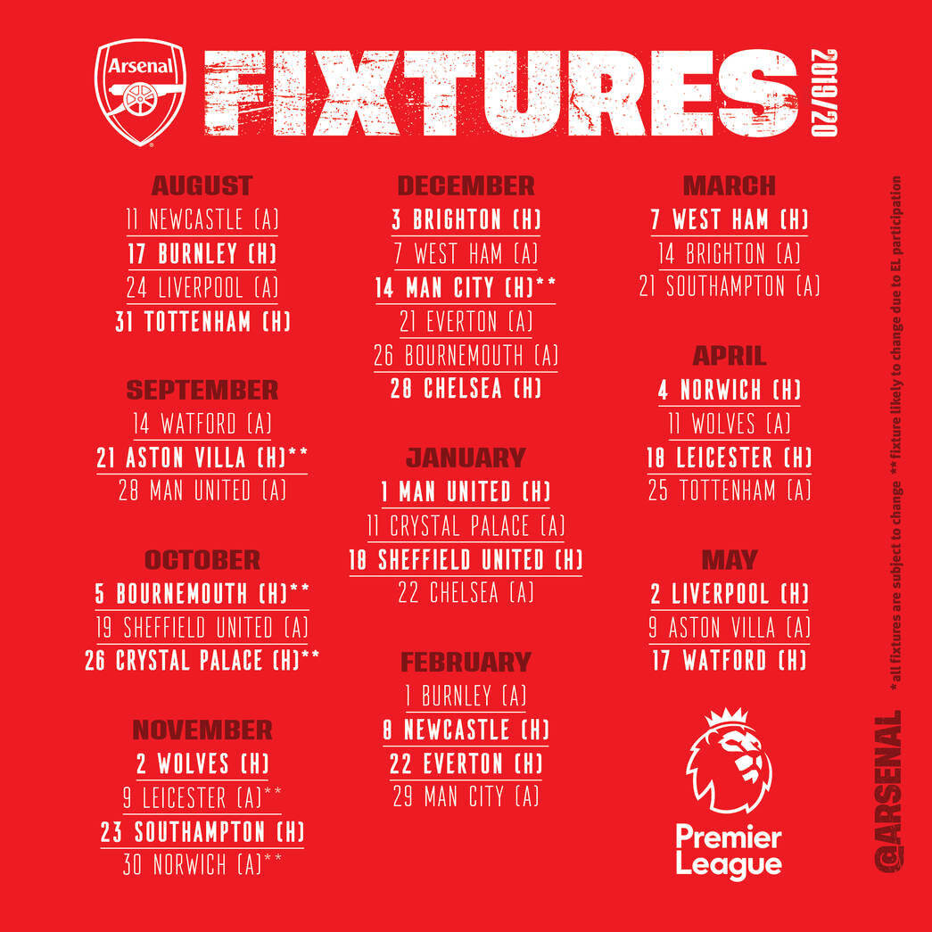 International Champions Cup 2020 Calendrier.Le Blog Des Gunners D Arsenal