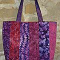 Sac batik rose orange violet verso S