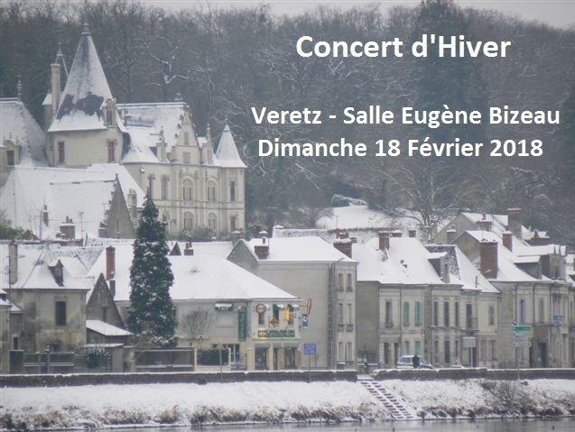 Concert d'Hiver à Véretz (Dimanche 18 Février 2018 Salle Eugène Bizeau à 15h)