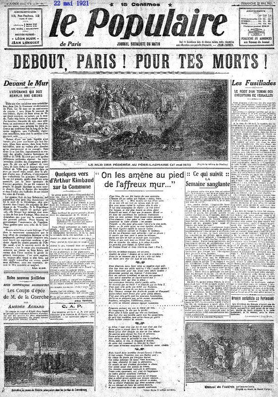 1921 22 mai 1le popu une