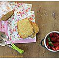 Minestrone de fraises, et cake moelleux au muscat