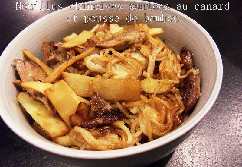 nouilles chinoises sautées au canard et pousse de bambou1