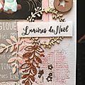 Page pour le défis de janvier de cards scrap and diy