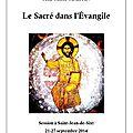 Le sacré dans l'évangile. présentation et table des matières de la transcription, fichiers à télécharger